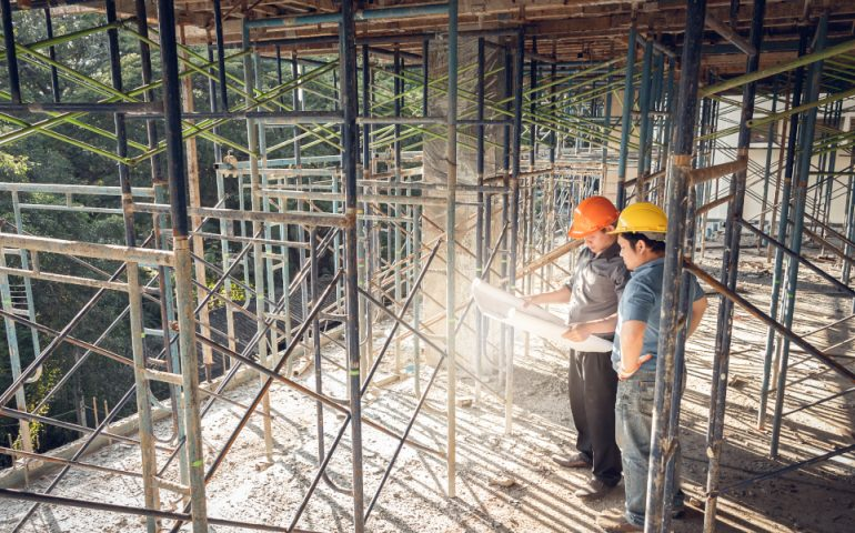 construction site infrastructure stock image