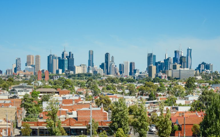 melbourne property stock image