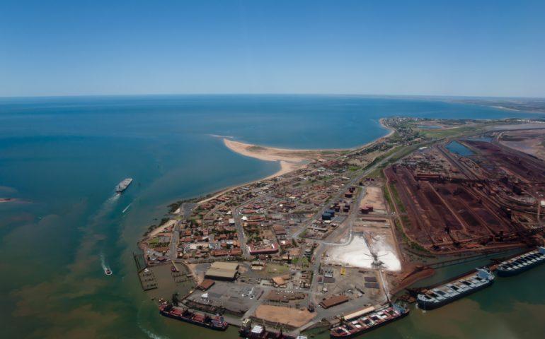port hedland stock image