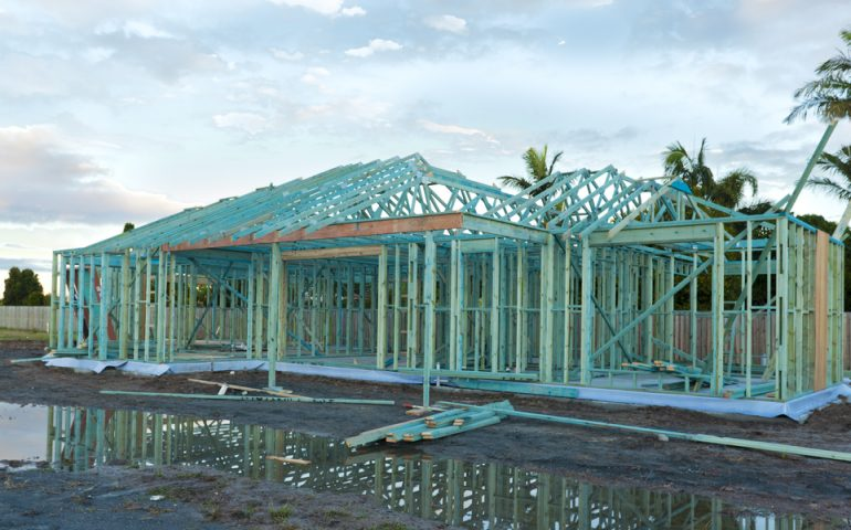 Building house framework stock image