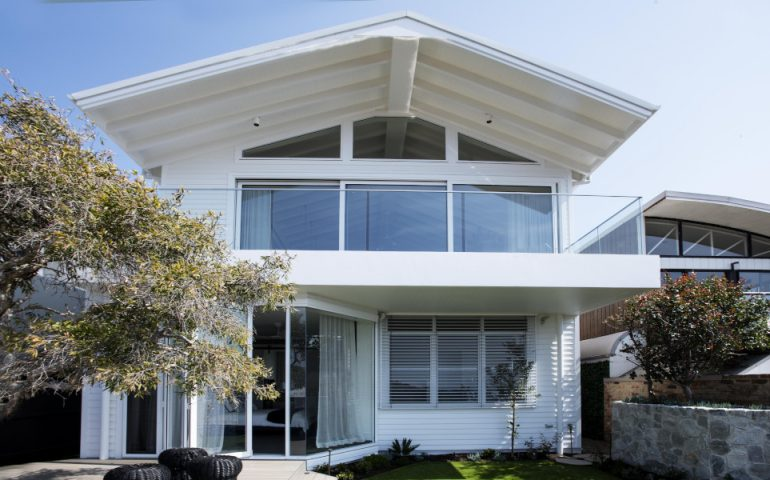 The Beach Hutt - rear exterior - HardieGroove and Linea Weatherboard 3