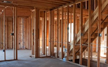 residential home construction stock image