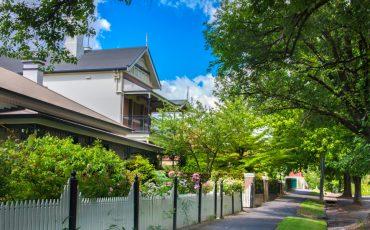 house in orange nsw stock image fence