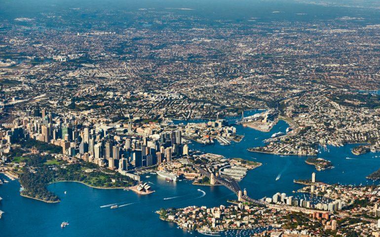 sydney aerial stock image