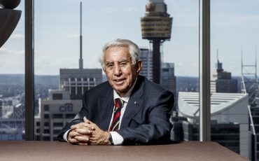 Harry Triguboff Australian billionaire real estate property developer, is one of Australia's richest people. He is the founder and managing director of Meriton. Photographed at World Tower Serviced Apartments, Liverpool Street, Sydney, Australia. 20/4/2017 Photo James Horan