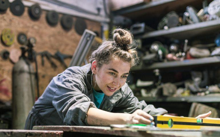 apprentice woman stock image