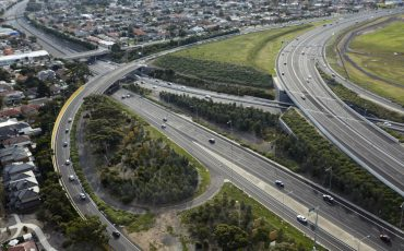 victoria infrastructure roads stock image