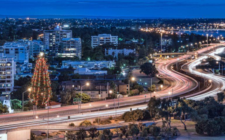 western australia road stock image