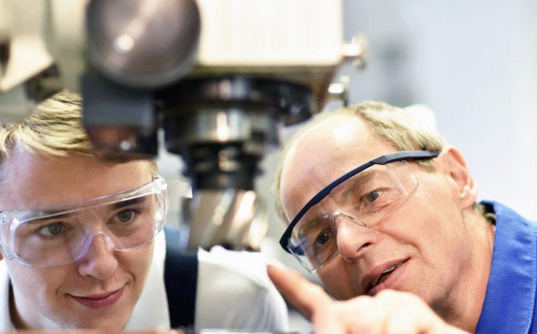 apprentice vocational training stock image