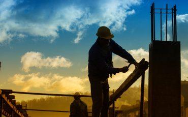 builder man stock image
