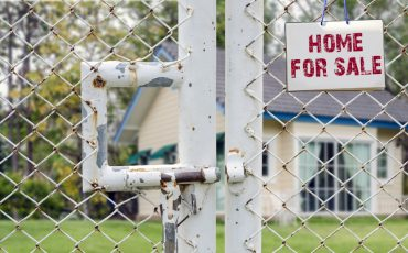home sale fence stock image
