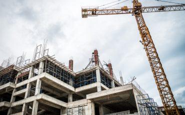 building construction crane stock image