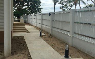 fence house stock image