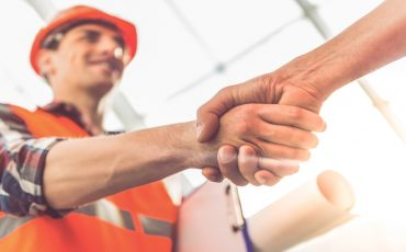 construction handshake dealio